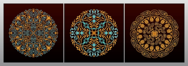 Design vintage decorativo mandala dorato