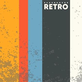 Sfondo design vintage con texture grunge retrò e strisce colorate. illustrazione vettoriale.