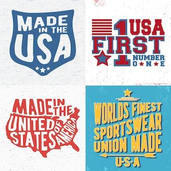 Stampa di design vintage per t-shirt stamp, t-shirt, tipografia di moda, badge, etichette di abbigliamento, jeans e abbigliamento casual. illustrazione vettoriale