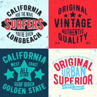 Stampa di design vintage per timbro t-shirt