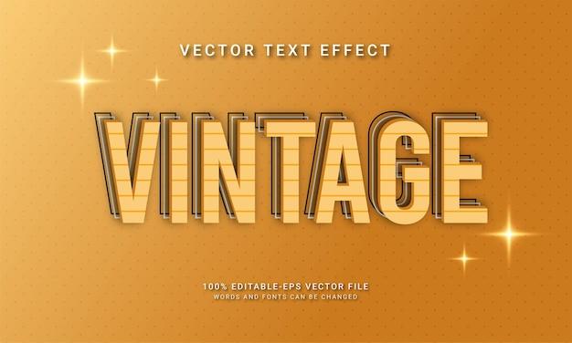 Effetto di testo modificabile vintage