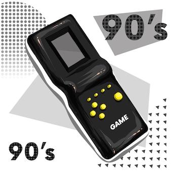 Gioco elettronico vintage degli anni novanta
