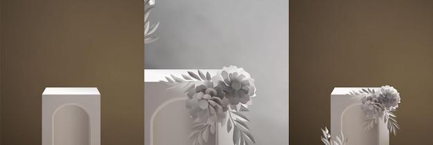 Modello di scena del podio realistico elegante vintage