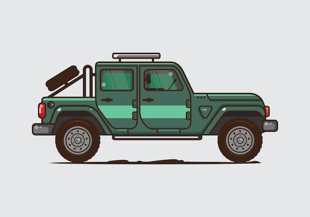 Illustrazione di auto d'epoca. vector piatta