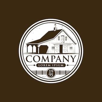 Logo e icona della fattoria vintage