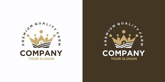 Ispirazione per il logo vintage della fattoria e del ranch