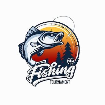 Design del logo pesca vintage