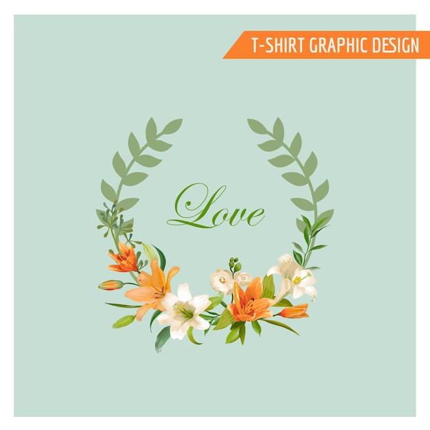 Design grafico floreale vintage