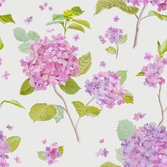 Modello senza cuciture lilla floreale vintage