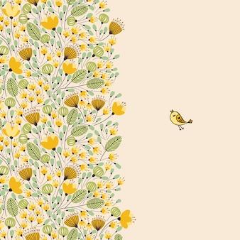 Vintage motivo floreale senza soluzione di continuità. illustrazione.