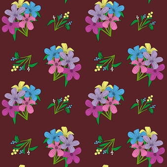 Fiore vintage senza soluzione di continuità