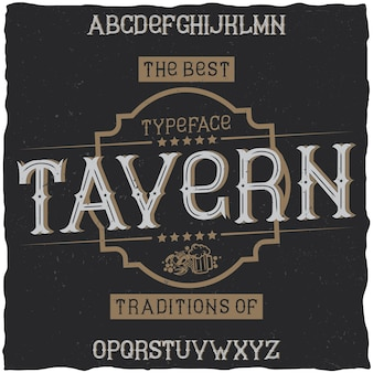 Carattere vintage denominato taverna.
