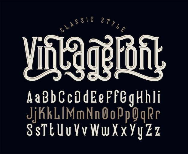Set di caratteri vintage