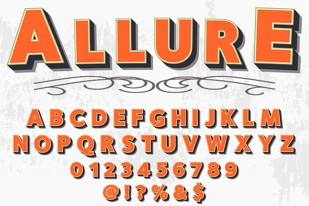 Carattere tipografico vintage denominato allure