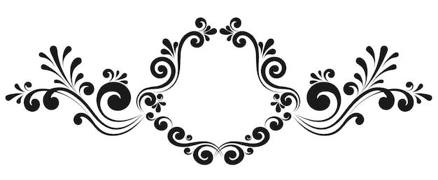Bordo cornice vintage per ornamento floreale monogramma