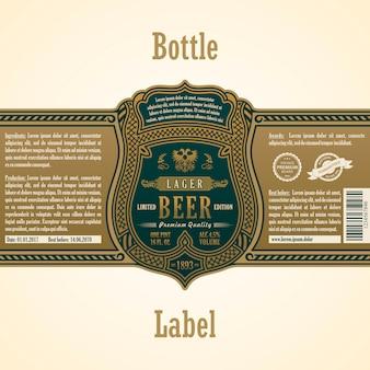 Etichetta con cornice vintage
