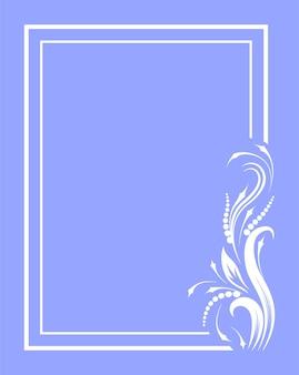 Cornice d'epoca per il testo con motivo silhouette vintage. modello per carta intestata, lettera, cartolina. illustrazione vettoriale.