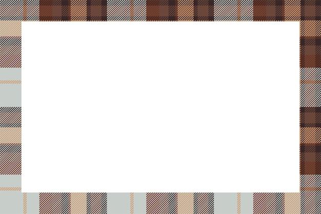 Vettore di cornice d'epoca. stile retrò modello confine scozzese. sfondo vuoto di bellezza, modello per foto, ritratto, album. ornamento scozzese in tartan.