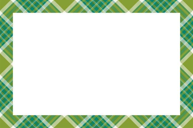 Vettore di cornice d'epoca. stile retrò motivo bordo scozzese. sfondo vuoto di bellezza, modello per foto, ritratto, album. ornamento scozzese scozzese.