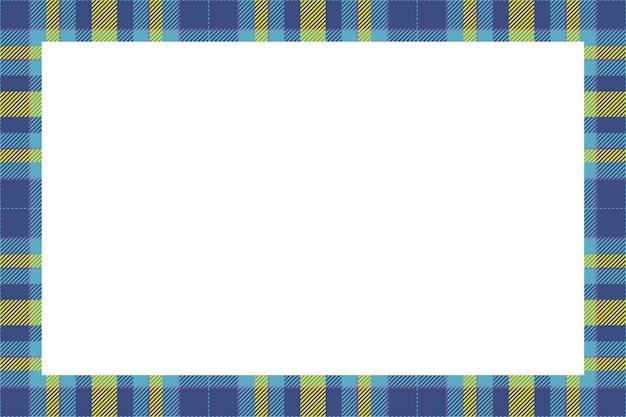 Vettore di cornice d'epoca. stile retrò motivo bordo scozzese.
