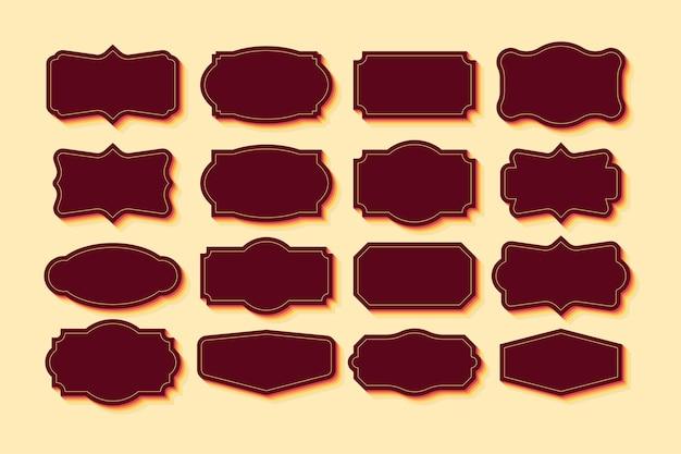 Pacchetto di cornici vintage set clipart collezione retrò per il design decorativo