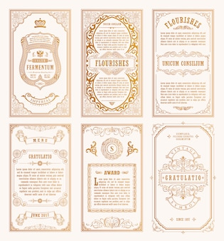Carte e cornici d'oro vintage