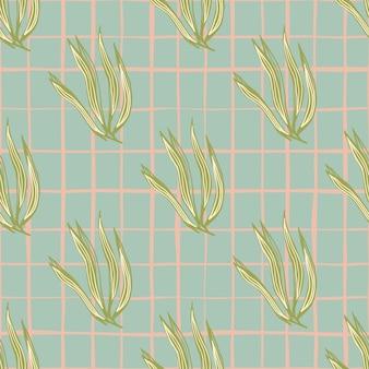 Reticolo senza giunte dell'annata alghe verdi. carta da parati con piante marine. sfondo di fogliame subacqueo. design per tessuto, stampa tessile, avvolgimento, copertina. illustrazione vettoriale.