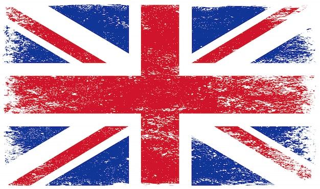 Bandiera del regno unito vintage grunge