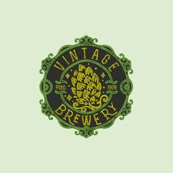 Distintivo di birreria disegnata a mano vintage