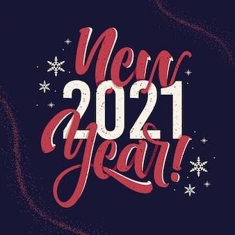 Sfondo vintage felice anno nuovo lettering