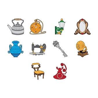 Set di icone vintage