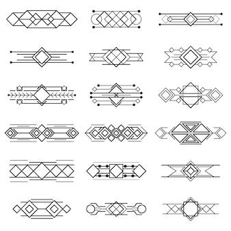 Illustrazione d'epoca, concetto di linea di figura geometrica e design retro etichetta cornice banner di sfondo decorazione, logo grafico elegante di lusso. isolato su bianco.