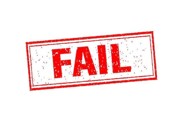 Illustrazione d'epoca con fallimento. simbolo, illustrazione logo