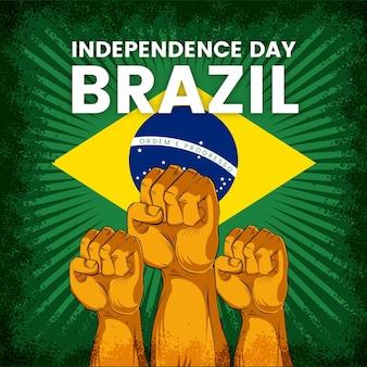 Giorno dell'indipendenza vintage del brasile