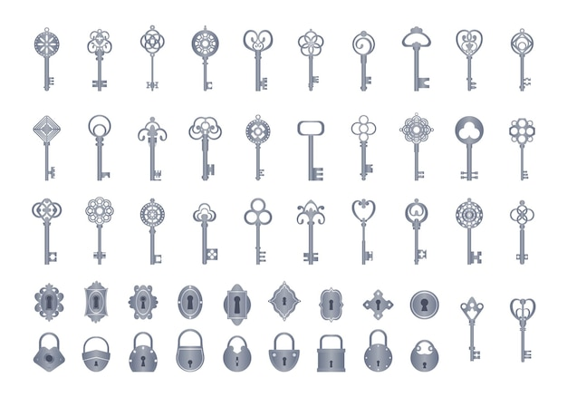 Chiavi vintage con serrature impostate