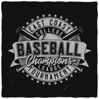 Design etichetta vintage con composizione scritta su sfondo scuro. design della maglietta.