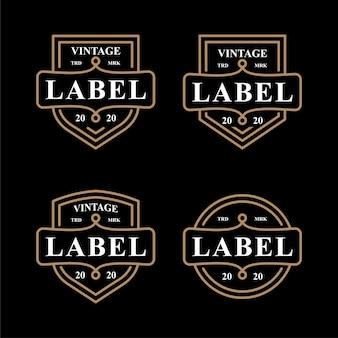 Emblema di etichetta vintage imposta icona logo simbolo design