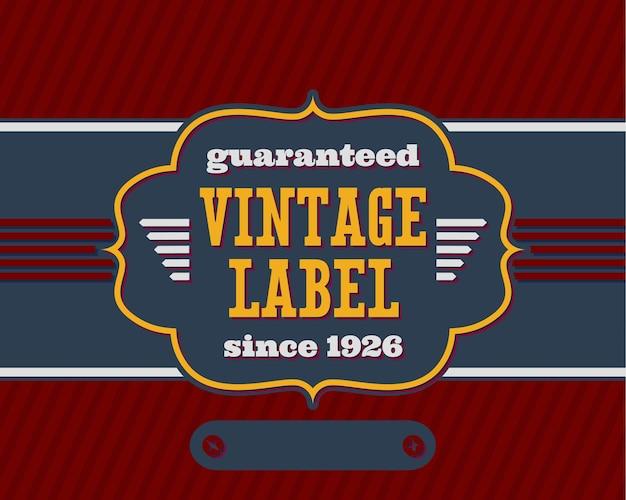Etichetta vintage con colori piatti