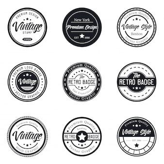 Collezione di set di badge logo vintage