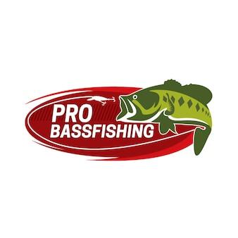 Progettazione di distintivi di etichette di pesca logo vintage
