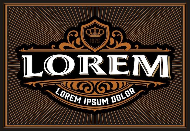 Modello di logo vintage, stile occidentale