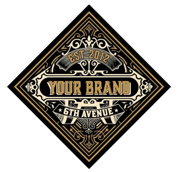 Modello di logo vintage
