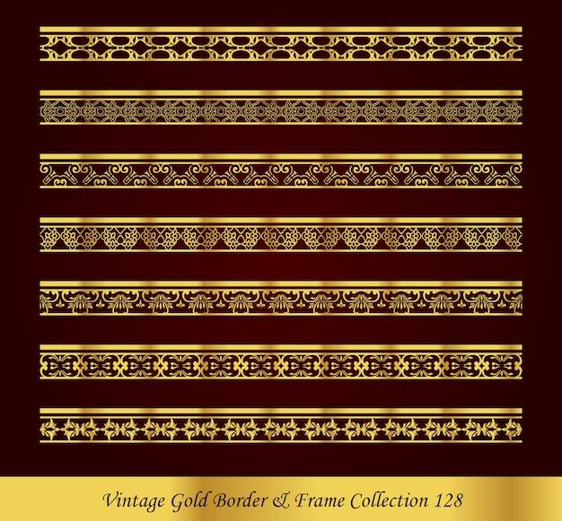 Collezione vintage luxury gold border
