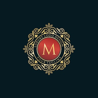 Logo di lusso vintage lettera m collection design
