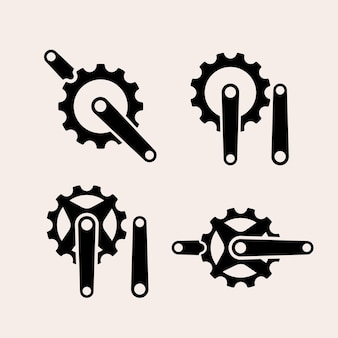 Icona del logo set meccanico vintage