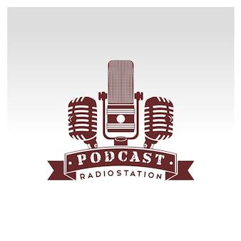 Logo del microfono vintage