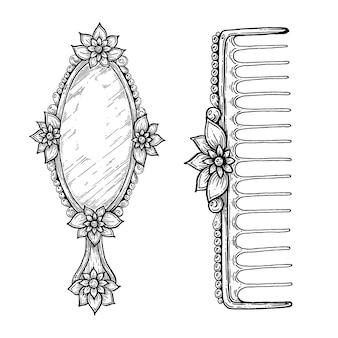 Specchio vintage e pettine