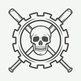 Logo vintage di arti marziali miste