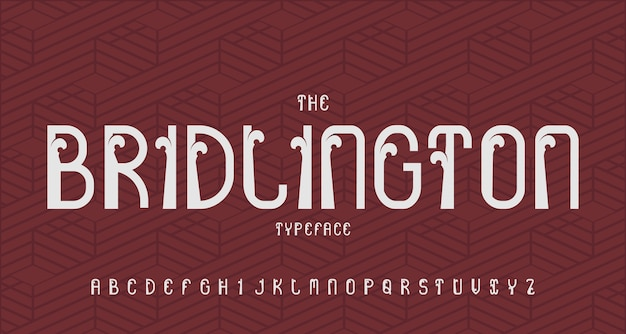 Carattere alfabeto moderno vintage. tipografia di carattere tipografico con design retrò