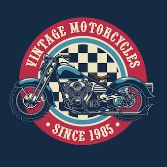 Design distintivo moto d'epoca